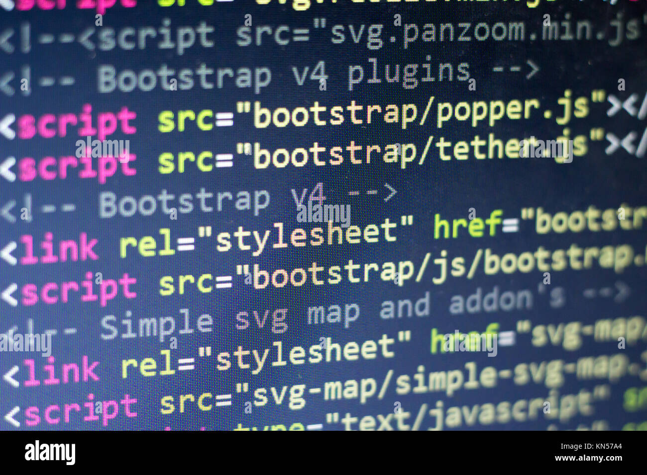 Html Code Computer Programming Source Code Abstract