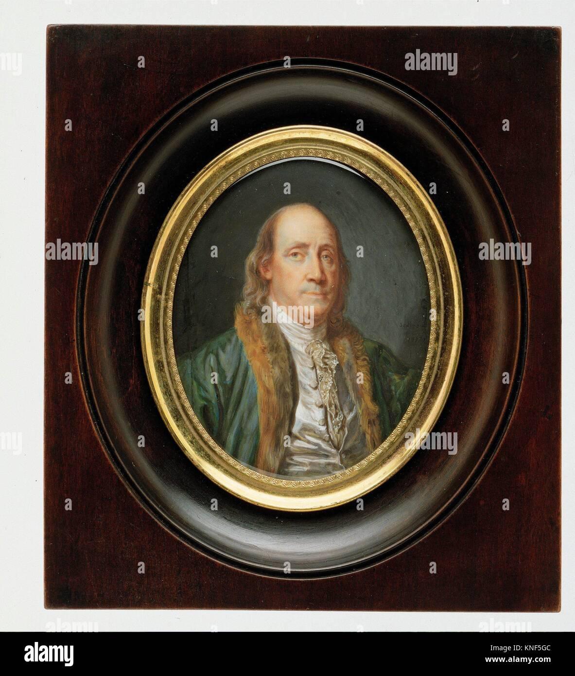 Benjamin Franklin After A Painting By Greuze