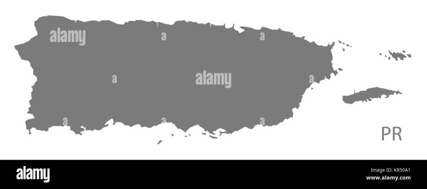 Map Puerto Rico Black and White Stock Photos   Images   Alamy Puerto Rico Map grey   Stock Image