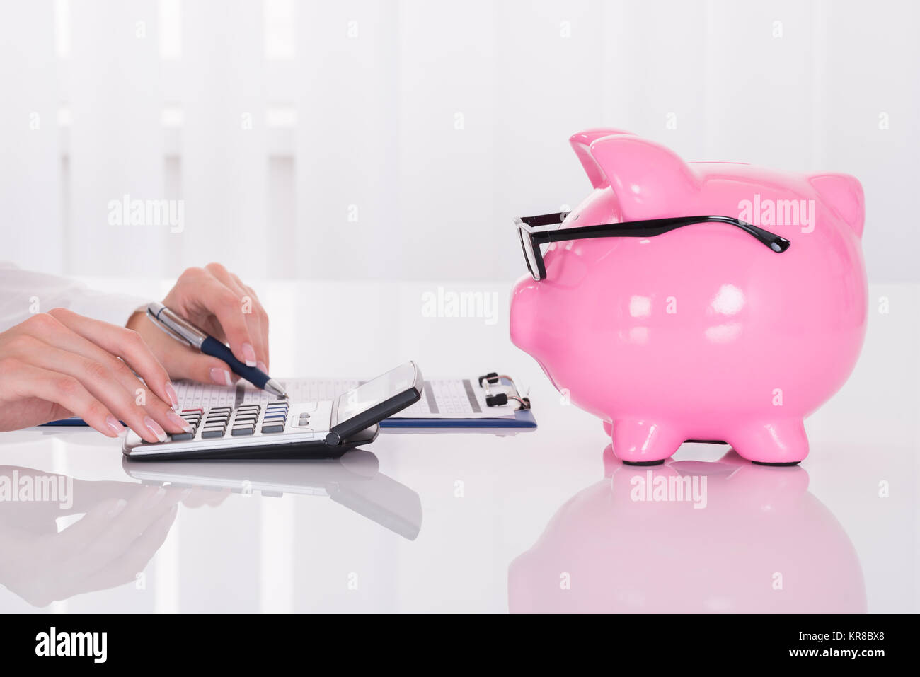 Sample Invoice Stock Photos   Sample Invoice Stock Images   Alamy Person Calculating Bill   Stock Image