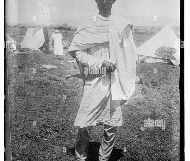Booloo Chief Camel Man Abyssinia Stock Image