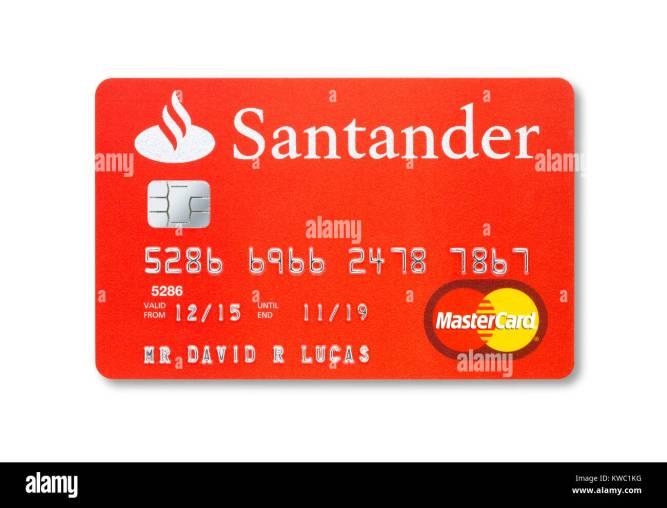 account number on santander card