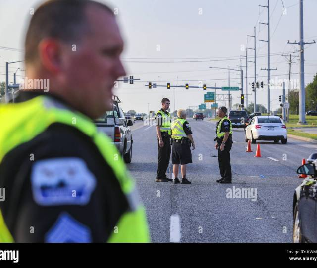 Officers Riley Jensen From Left Leslie Delaere And Thomas Runge Work Together On The Scene Of A Vehicle Vs Pedestrian Crash In The Northbound Lanes Of