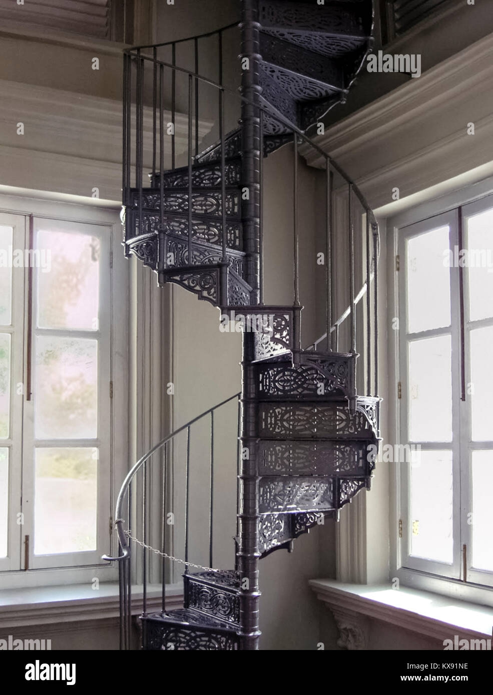 Cast Iron Spiral Staircase In The National Museum Of Singapore   Cast Iron Spiral Staircase   Modern   Traditional   Stair Case   Kitchen   Railing