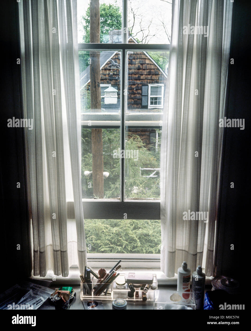 https www alamy com stock photo may 1982 sash window with curtains view on garden neighbour house 172371237 html