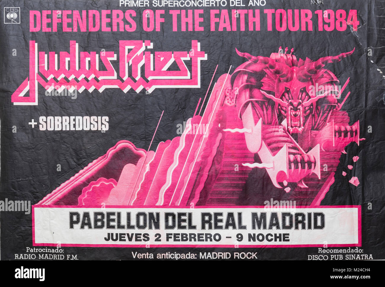 https www alamy com stock photo judas priest defenders of the faith tour 1984 madrid musical concert 173430688 html
