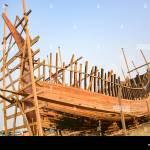 Making Wooden Boat Stock Photo Alamy
