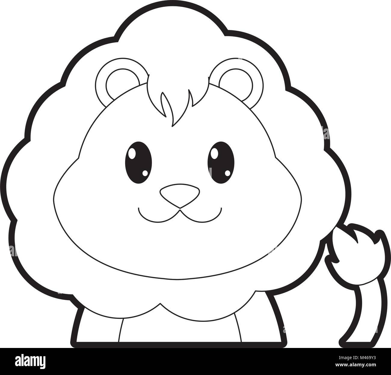 Cartoon Lion Animal Outline High Resolution Stock Photography And Images Alamy