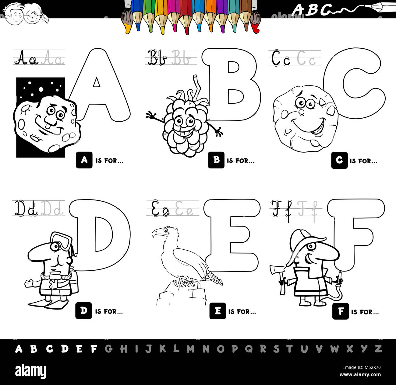 Cartoon Letter F Stock Photos Amp Cartoon Letter F Stock