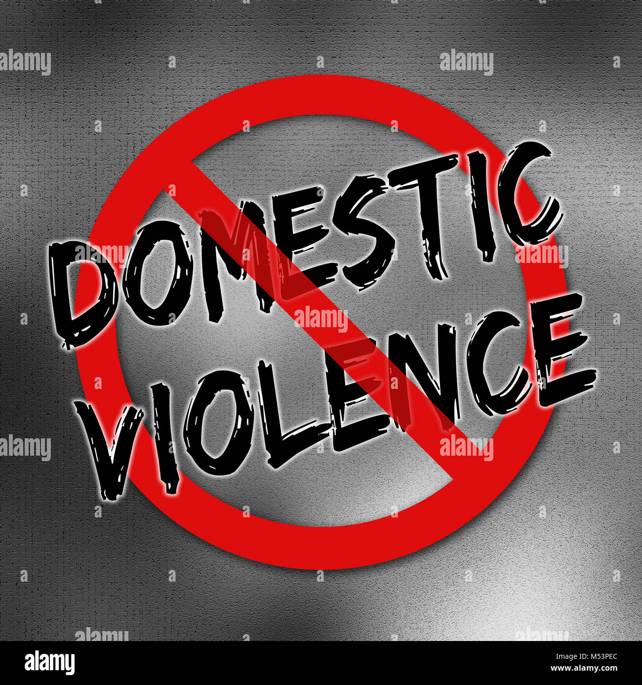 Stop Domestic Violence Poster Stock Photo