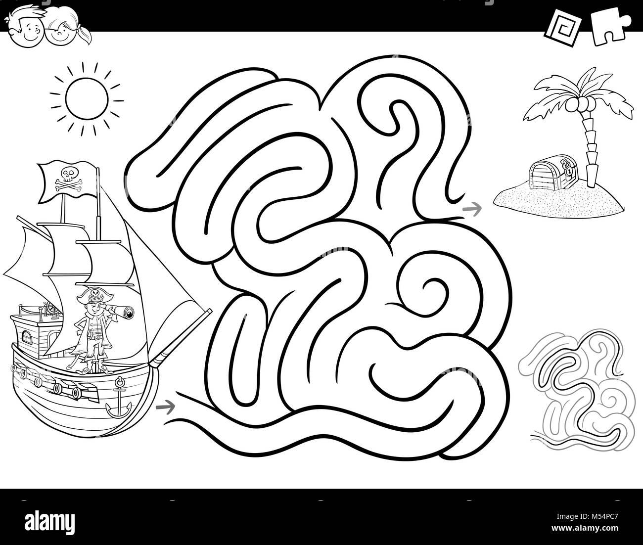 treasure map maze printable treasure chest treasure chest » 4K ...