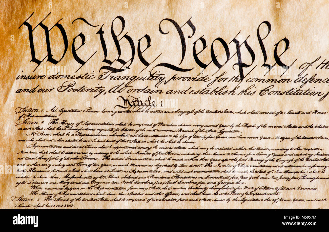 Constitution Of America We The People Stock Photo