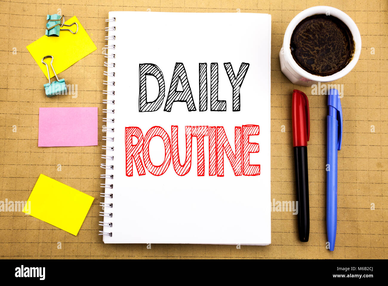 Word Writing Daily Routine Business Concept For Habitual