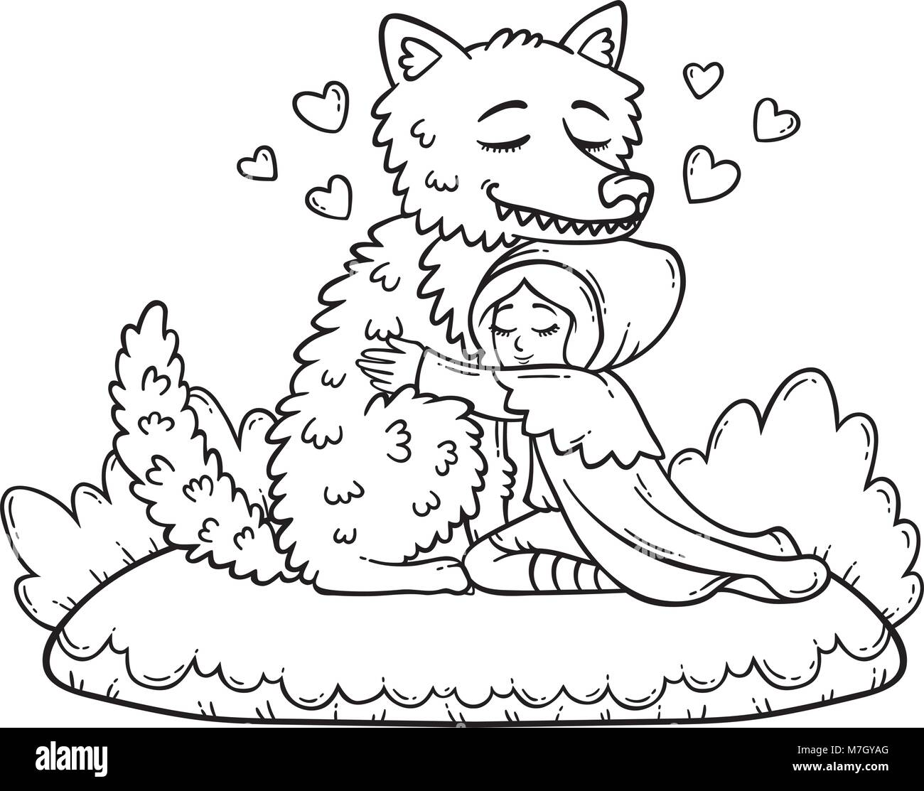 34 Red Riding Hood Coloring Pages