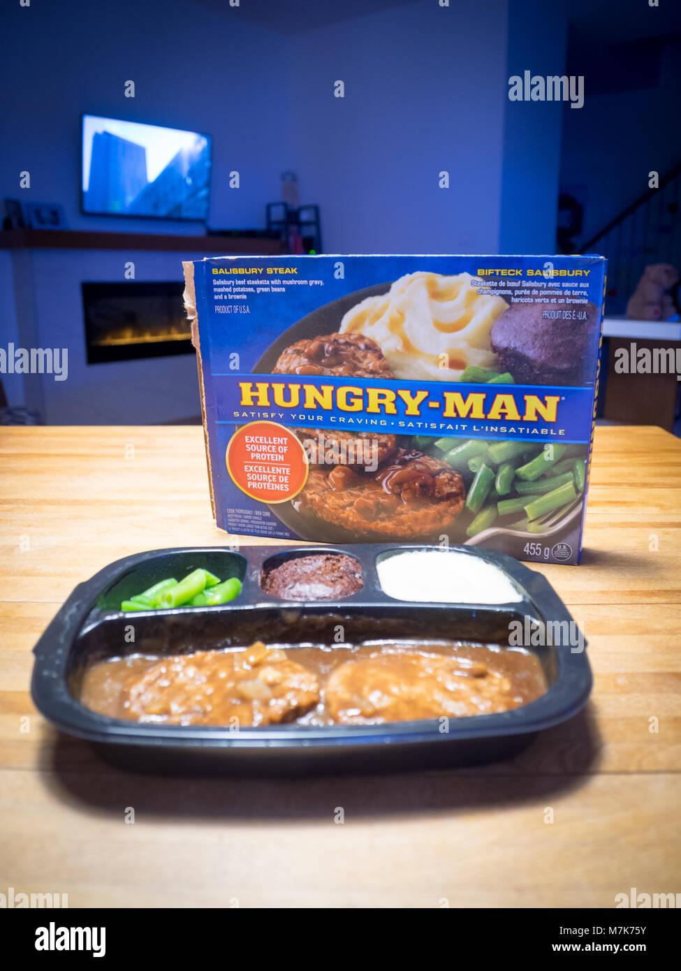 https www alamy com stock photo a swanson hungry man salisbury steak tv dinner frozen dinner 176829015 html