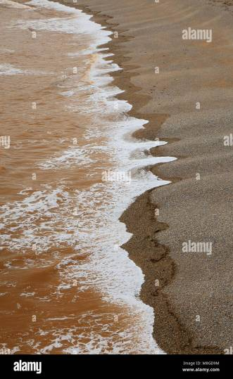 Landscape Cost Seaside Stock Photos   Landscape Cost Seaside Stock     Pebble beach in Ladram Bay near Sidmouth  Devon   Stock Image