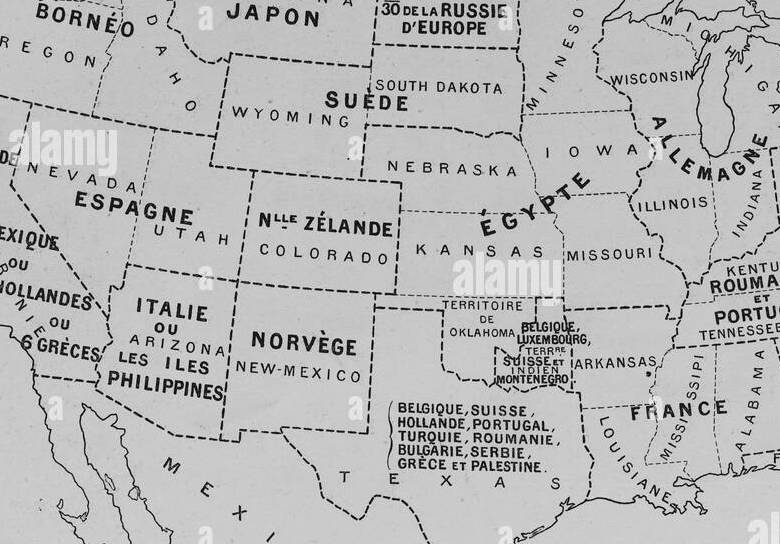 HD Decor Images » Map of the USA in 1900 comparing the country with other countries of     Map of the USA in 1900 comparing the country with other countries of  Europe  Africa and Asia  Picture from the French weekly newspaper  l Illustration