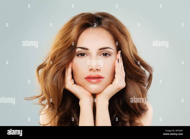 beautiful female face. healthy woman with perfect skin and
