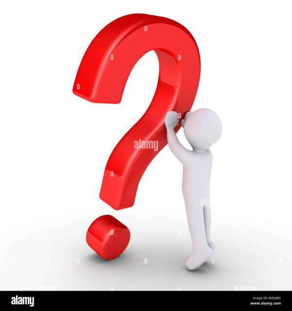 3d person is lifting a question mark symbol Stock Photo ...