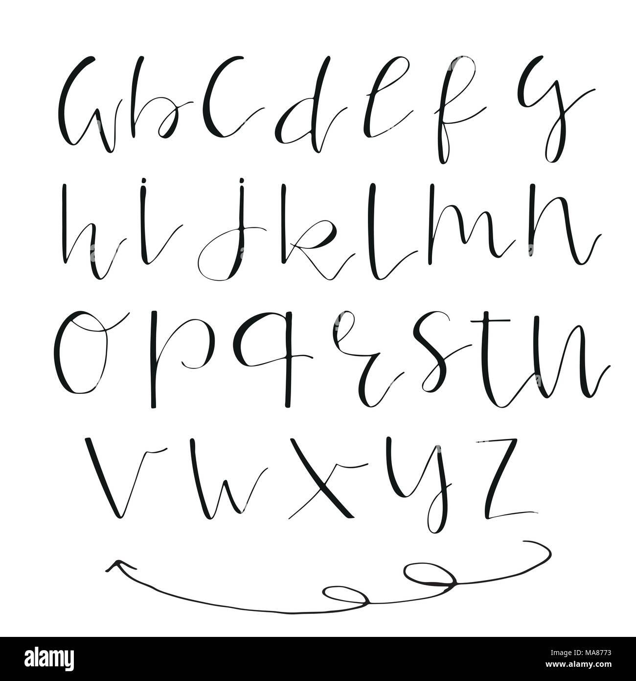 Cursive Handwriting Stock Vector Images