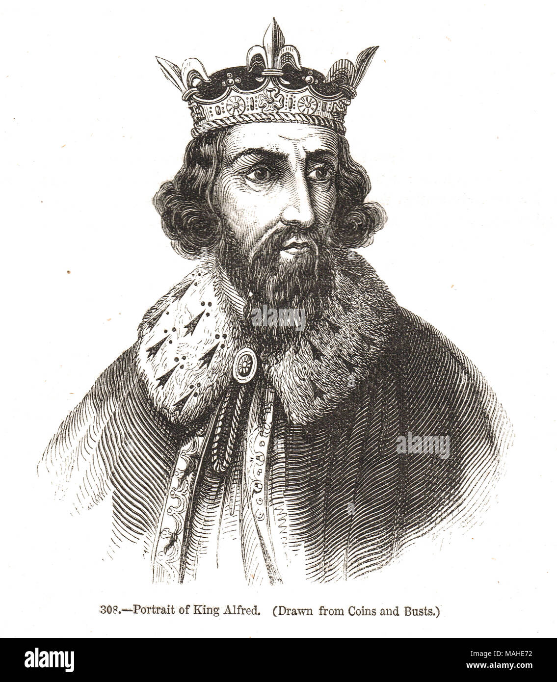 King Alfred The Great 9th Century King Of Wesstock