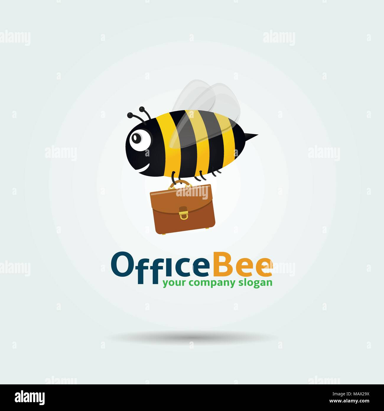 When you use bee's templates with your gmail account, you get the best of both worlds. Office Bee Logo Template Design Vector Illustration Stock Vector Image Art Alamy
