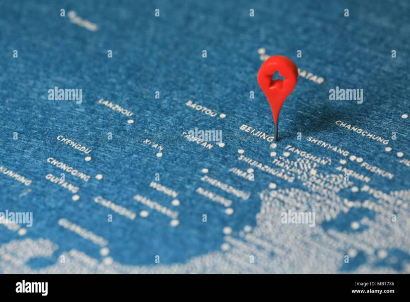 Beijing Map Pin Stock Photos   Beijing Map Pin Stock Images   Alamy map and pin   Stock Image