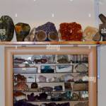 Geological Crystal Display Cabinet And Bookshelf Earth Science Uk Stock Photo Alamy