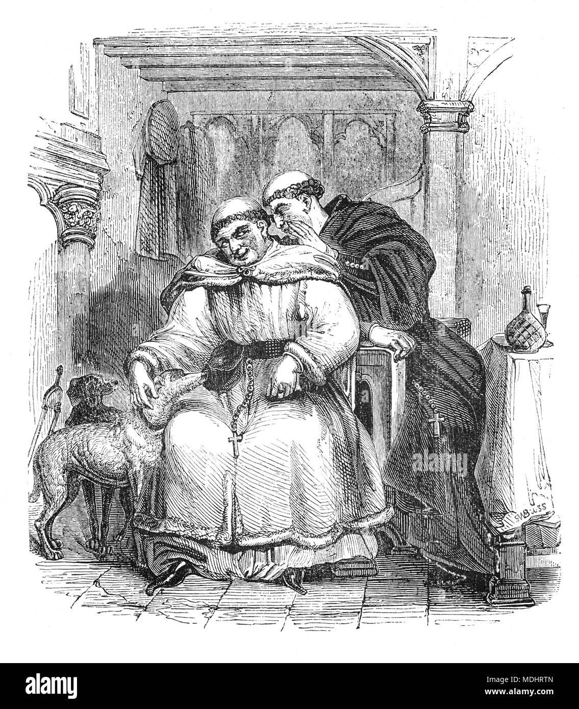 Two Of The Characters From The Canterbury Tales A