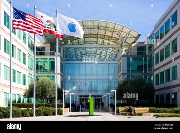 Apple Building Silicon Valley Stock Photos & Apple ...