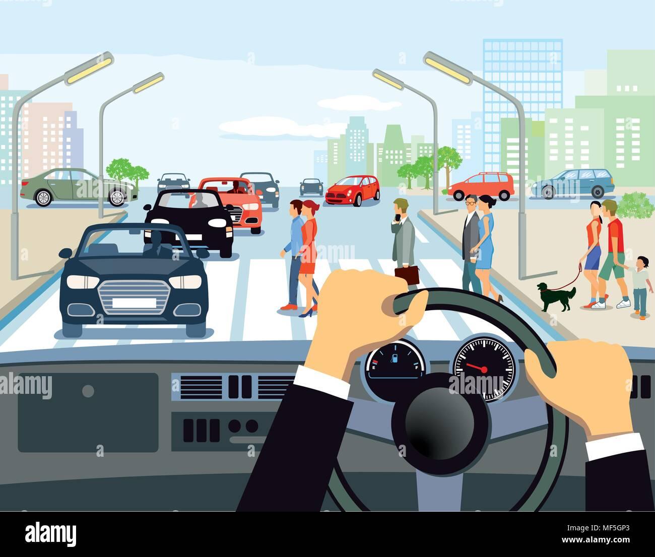 Pedestrian Crossing Stock Vector Images