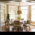Pendant Light Above Round Table In Traditional Style Dining Room Stock Photo Alamy