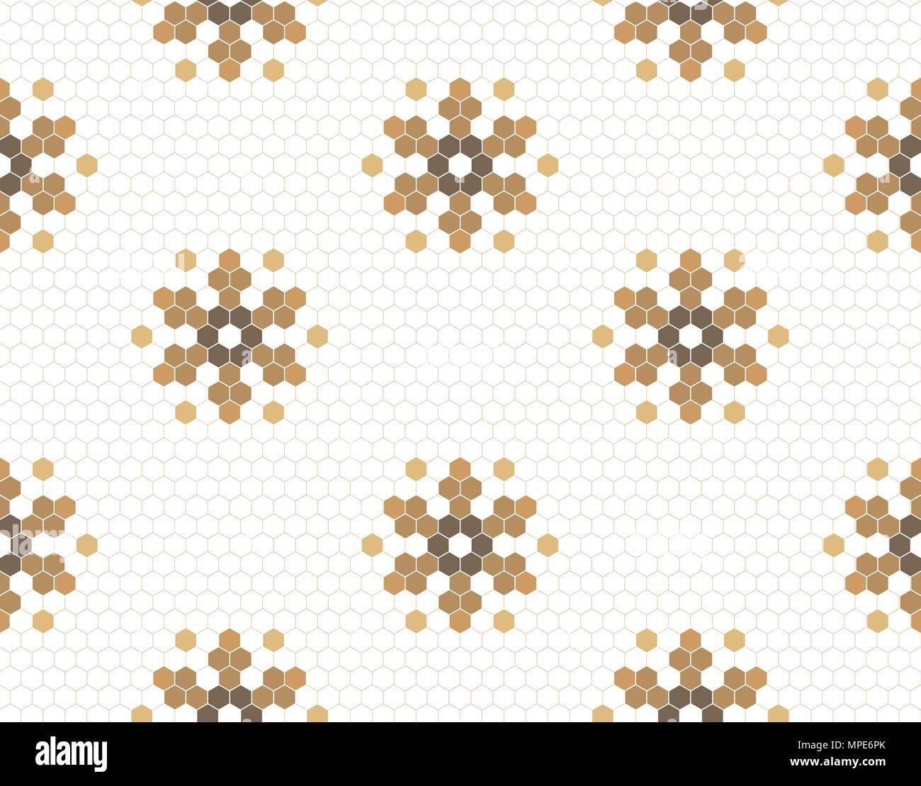 https www alamy com gold geometric pattern vector flower background modular in hexagon shape tile floors design image185938779 html