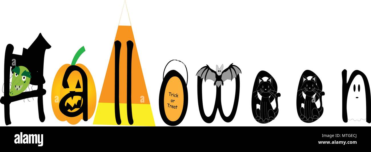 Using the long yarn tail from the beginning and the tapestry needle, sew the bottom of the bag shut. Halloweenillustrated With Witch Jack O Lantern Candy Corn Trick Or Treat Bag Bat Black Cat And Ghost On White Stock Vector Image Art Alamy