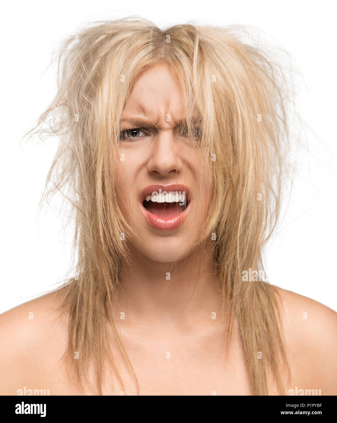 Bad Hair Day Funny Concept Stock Photo