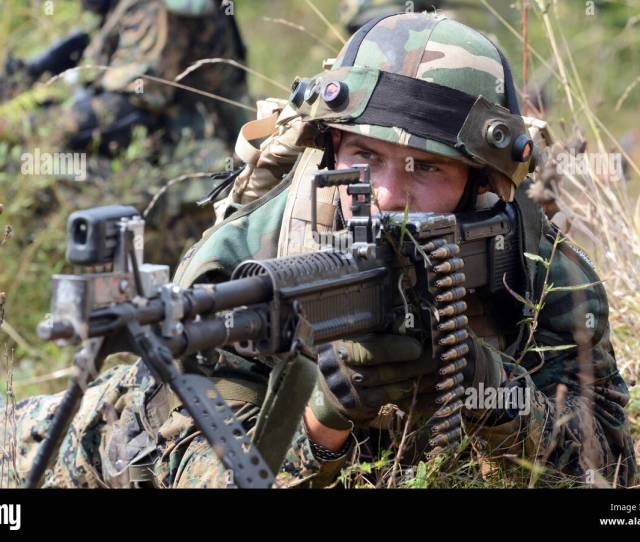 A Soldier From The Armed Forces Of Bosnia And Herzegovina Scans The Perimeter Sept 15 2016 During Training As Part Of Exercise Immediate Response 16
