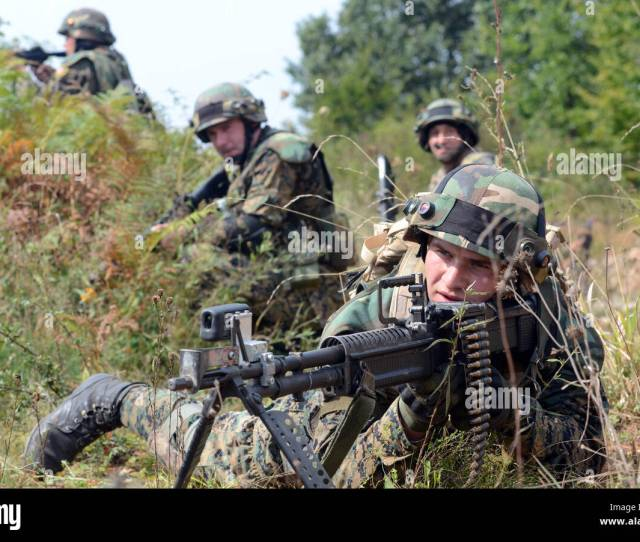 A Soldier From The Armed Forces Of Bosnia And Herzegovina Pulls Security Sept 15 2016 During Training As Part Of Exercise Immediate Response 16 Held At