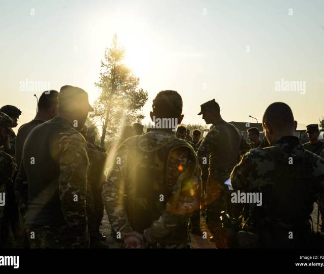 Slovenian Armed Forces Soldiers Prepare For Movement Sept 15 2016 As Part Of Exercise Immediate Response 16 Held At The Croatian Armed Forces Training