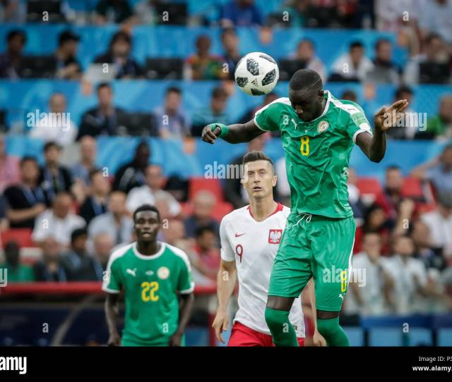C Kouyate During A Match Between Poland And Senegal Valid For The First Round Of Group H Of The  World Cup Held At The Spartak Stadium