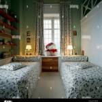 View Of Two Single Beds In A Children S Room Stock Photo Alamy