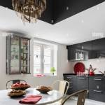 Dark Grey Flat Fronted Units In Kitchen With Vintage Metal