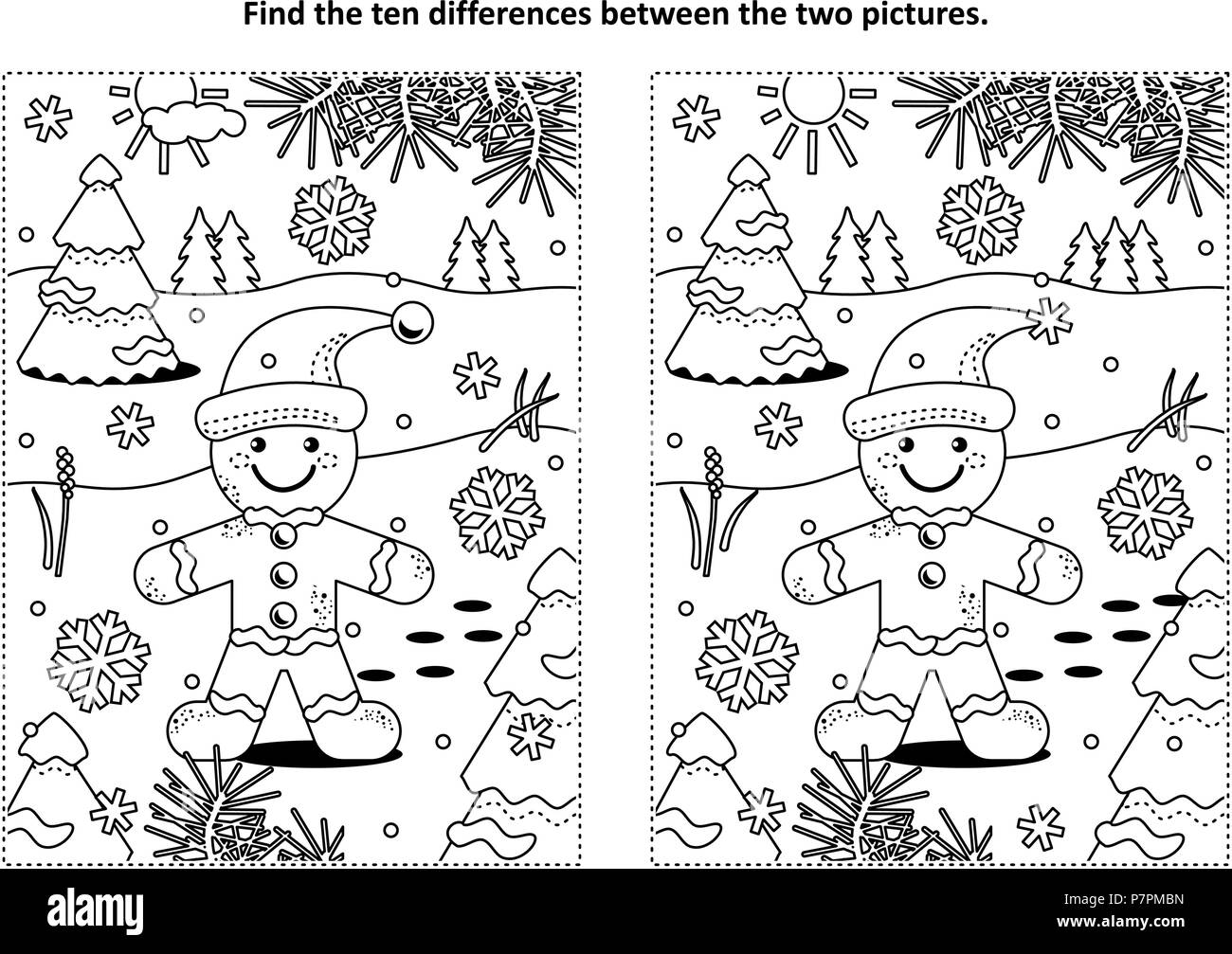 Winter Holidays Christmas Or New Year Themed Find The Ten