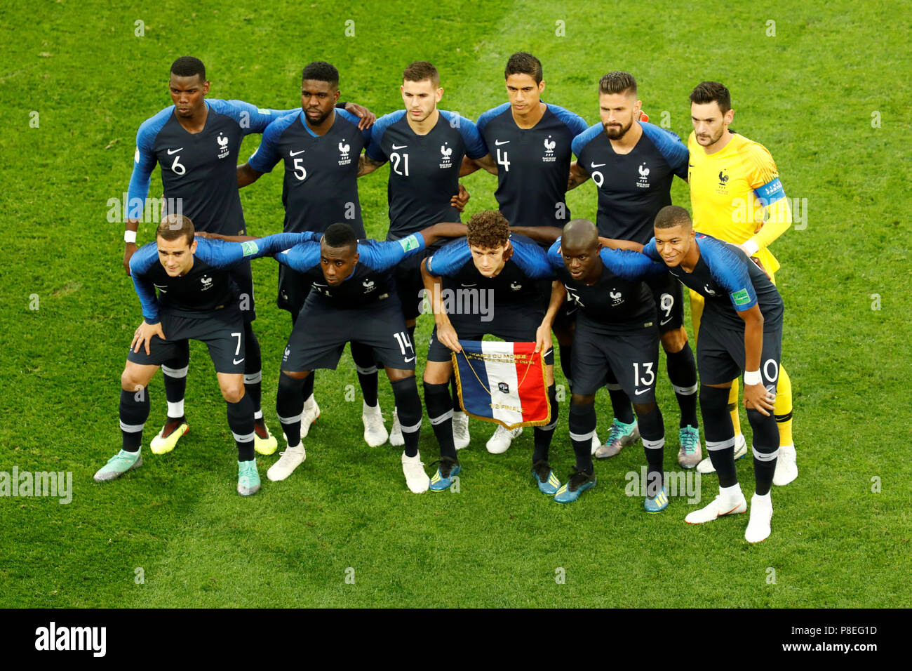 Can you hear the drumlines rattling? Saint Petersburg Russia July 10 France National Team Players Pose For A Photo During The 2018 Fifa World Cup Russia Semi Final Match Between France And Belgium At Saint Petersburg Stadium