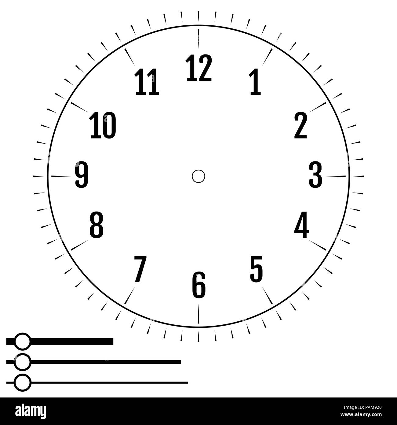 Clock Face Round Design For Men Blank Display Dial Of