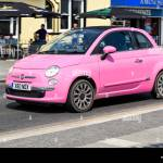 Pink Fiat 500 Car High Resolution Stock Photography And Images Alamy
