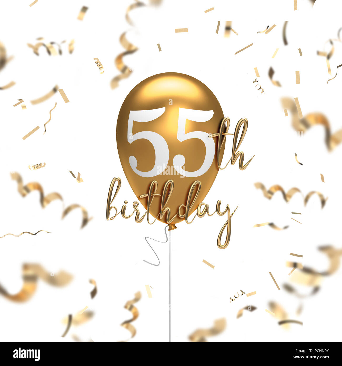 https www alamy com happy 55th birthday gold balloon greeting background 3d rendering image214290215 html
