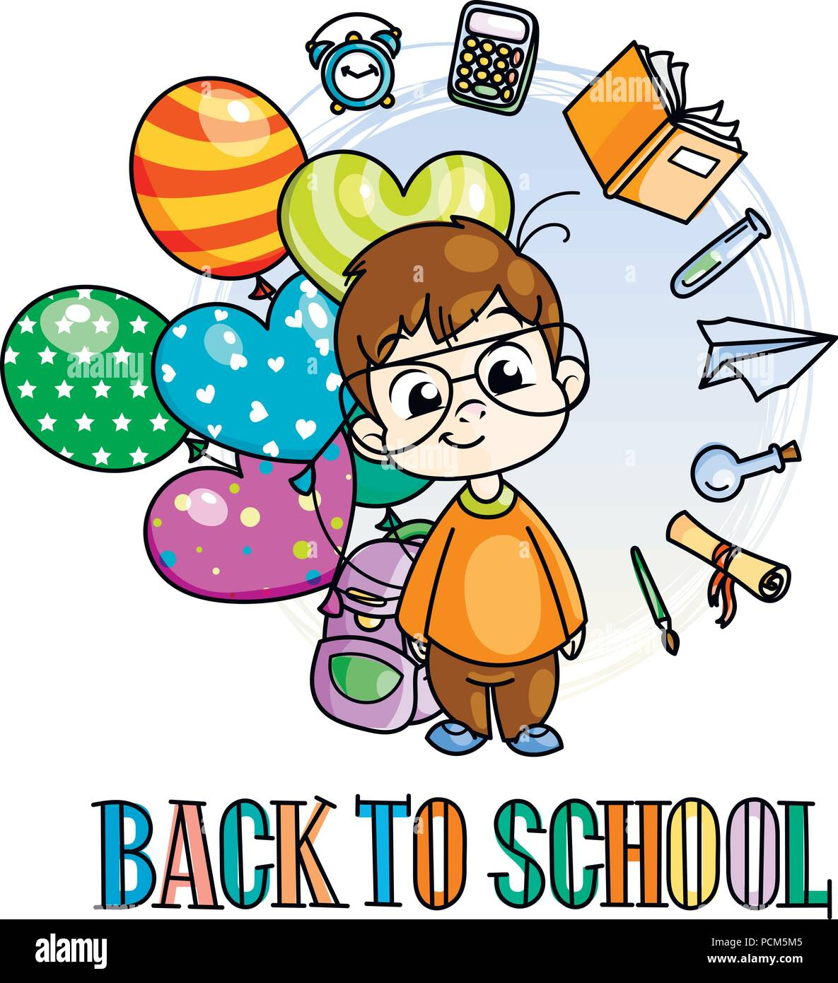 Welcome Back To School Cute School Kid Ready To Education