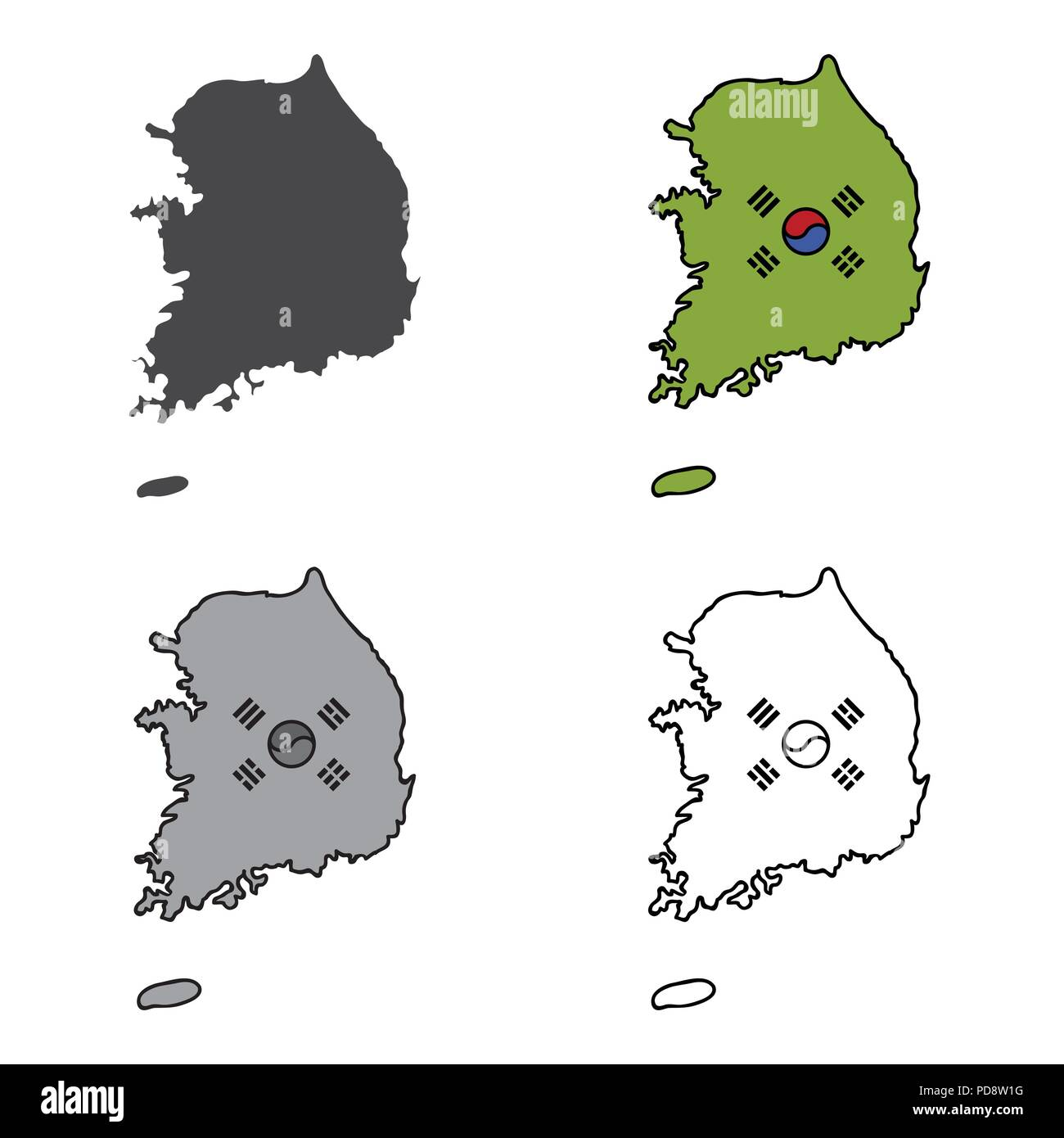 Page 3 North Korea South Korea Map High Resolution Stock Photography And Images Alamy