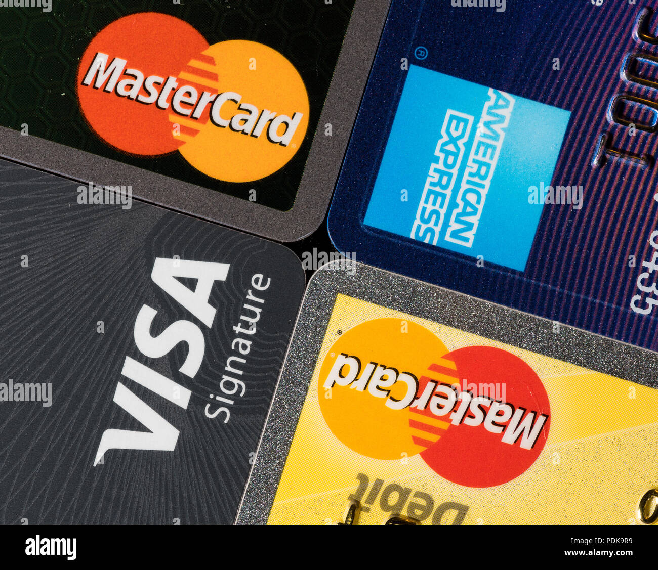 Minimum interest charge is $1.50. Close Up Of Credit Card Issuer Brands And Logos Stock Photo Alamy