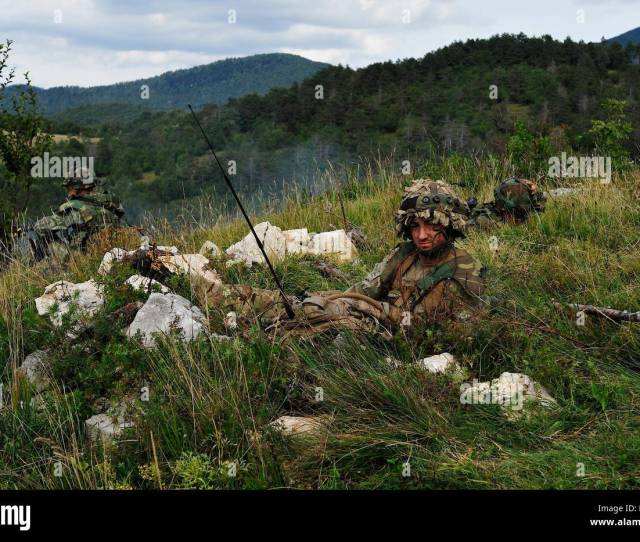 Albanian And British Soldiers Conduct Training During At Immediate Response  2015 Near Postonja Slovenia Ir 15 Is A Multinational